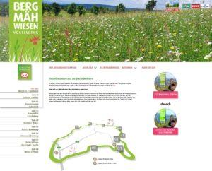 Bergmähwiesenpfad virtuell wandern (Quelle: Screenshot Website)