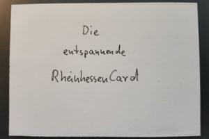 Die entspannende RheinhessenCard, Cover (Frank der Entspannende) - was wohl auf der anderen Seite ist?