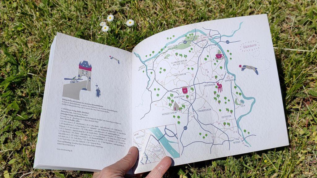 Glücksorte in Rheinhessen von Kristin Heehler (Übersichtskarte)