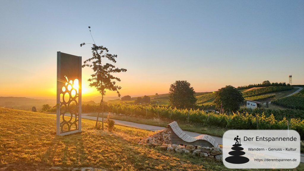 Sonnenaufgang an der Schönsten Weinsicht 2020 Rheinhessen (Zornheimer Ruhkreuz)