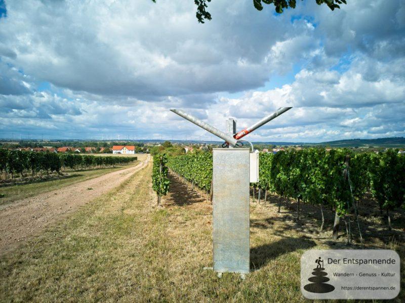 Schussapparat (Knallgerät) zur Vogelabwehr in Weinbergen