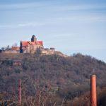 Burg Breuberg, gesehen von Höchst im Odenwald