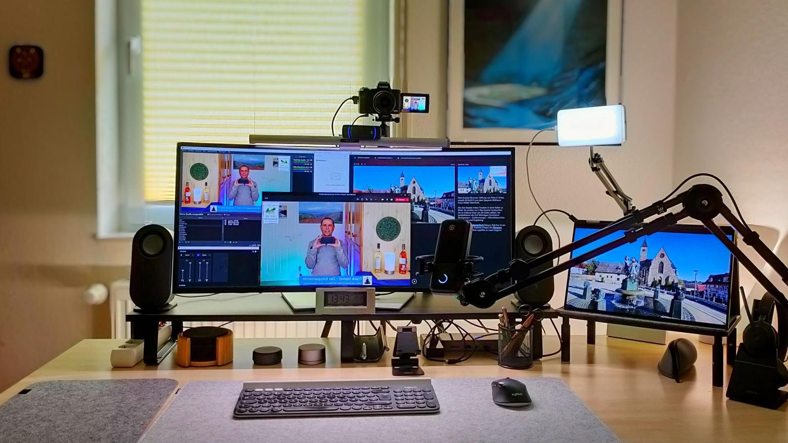 Workplace Setup Virtuelle Weinwanderung