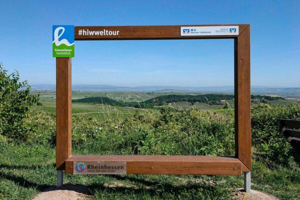 Panoramablick auf die rheinhessische Hügellandschaft - Hiwweltour Heideblick